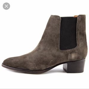 Frye Dara Chelsea Boots in Smoke Oiled Suede